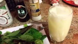 Paleo meal with pina colada