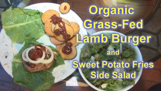 Lamb Burger w/ Grass Fed Meat